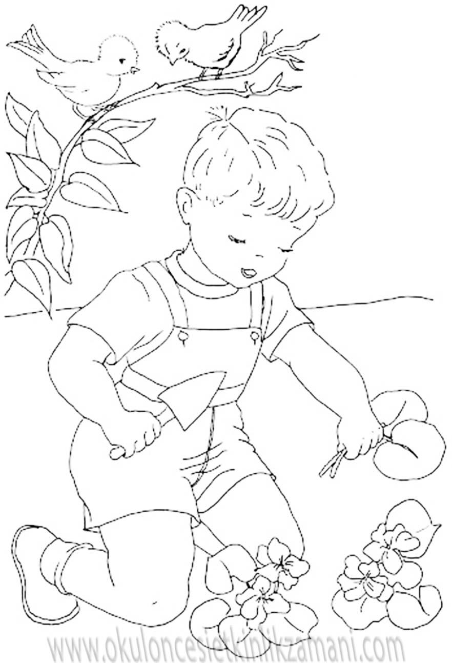 Cicek Diken Cocuk Okul Oncesi Etkinlik Zamani