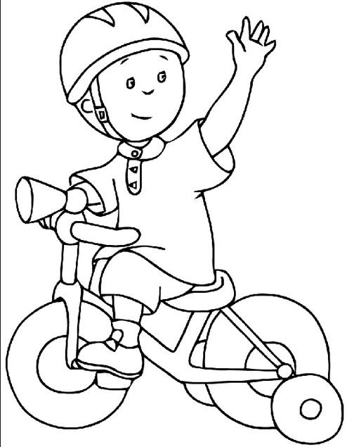 6279 Bisikletli Cocuk Boyama 5 Okul Oncesi Etkinlik Zamani