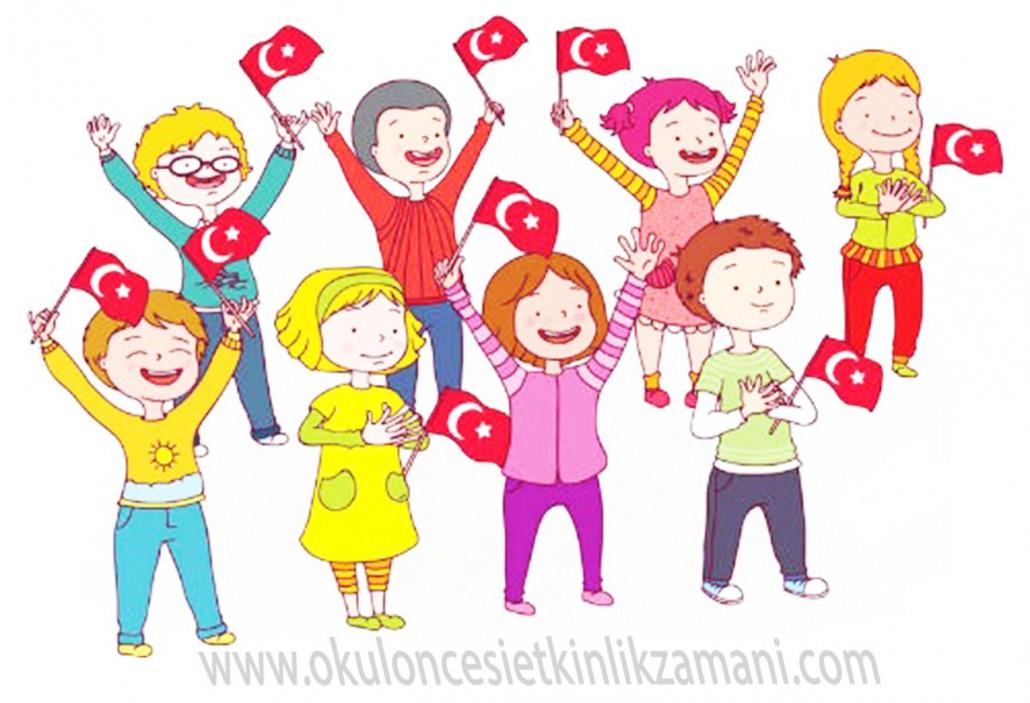 Cumhuriyet Bayrami Okul Oncesi Etkinlik Zamani