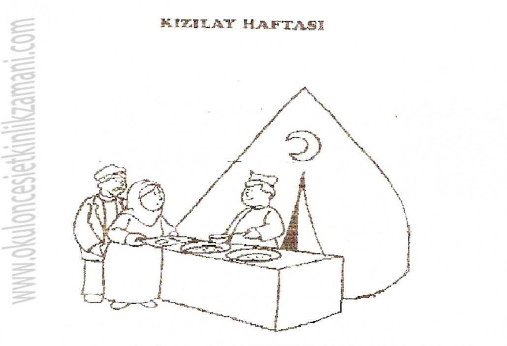 Kizilay Haftasi Okul Oncesi Etkinlik Zamani