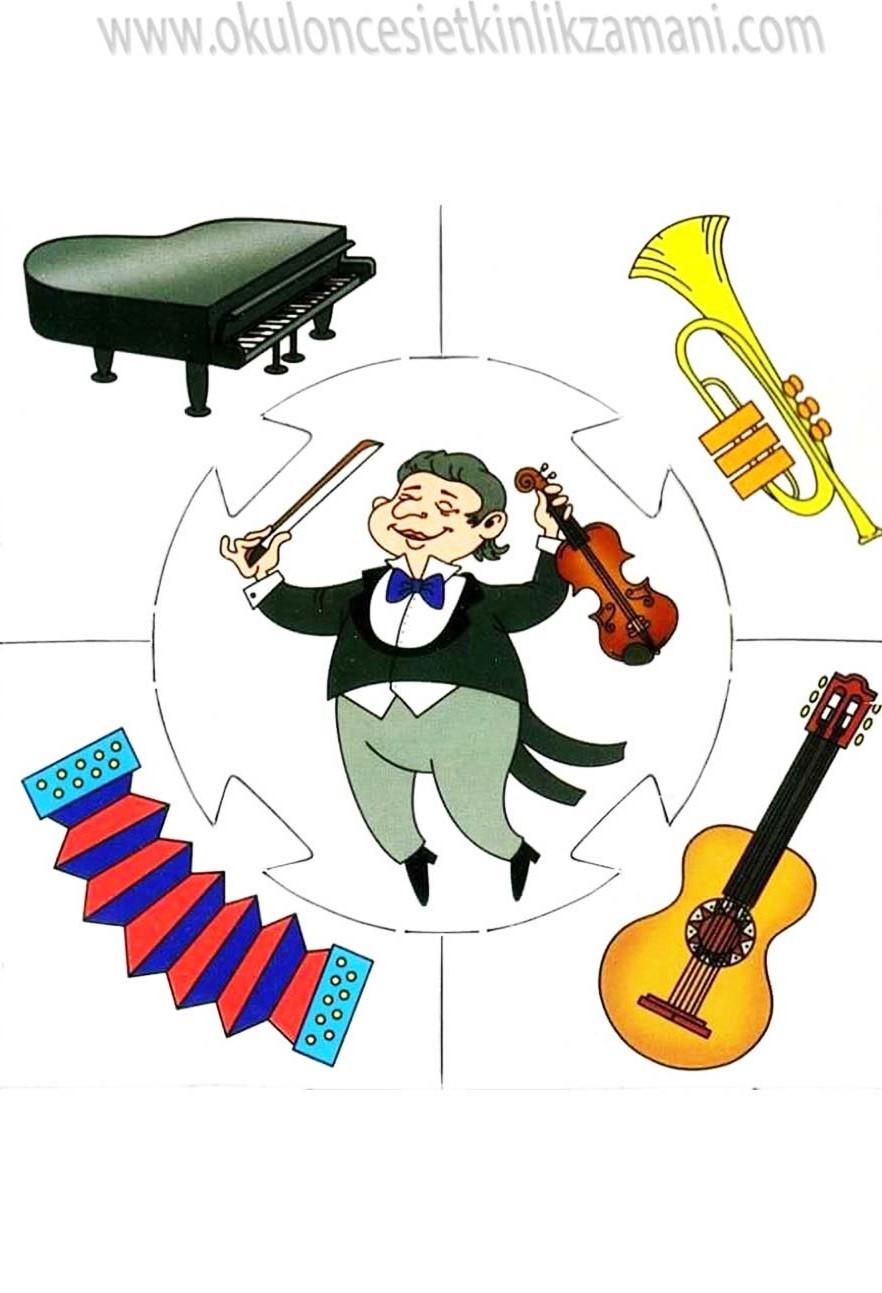 Muzisyen Ve Muzik Aletleri Okul Oncesi Etkinlik Zamani