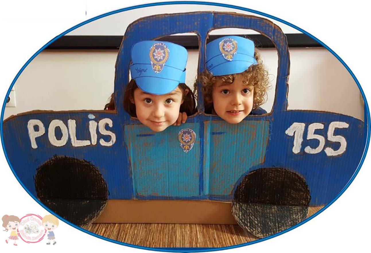 Polis Arabasi Cercevesi Okul Oncesi Etkinlik Zamani