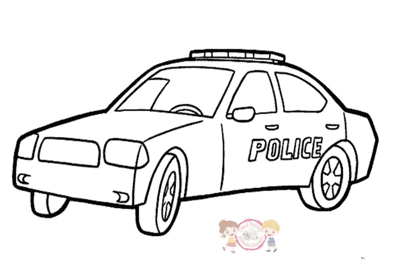 Polis Arabasi Boyama Okul Oncesi Etkinlik Zamani