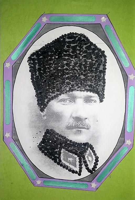 Parmak Boya Ile Ataturk Okul Oncesi Etkinlik Zamani
