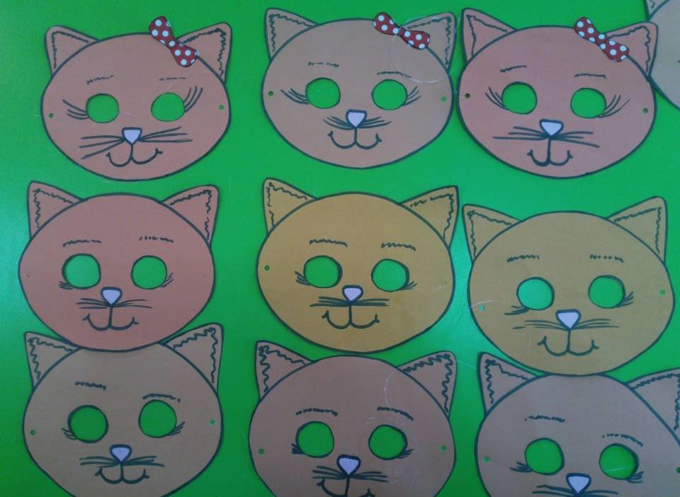 Kedi Maskesi Okul Oncesi Etkinlik Zamani
