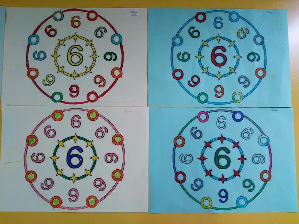 6 Rakami Mandala Okul Oncesi Etkinlik Zamani