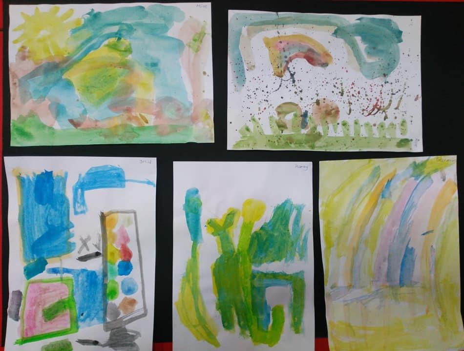 Renk Karisimi Suluboya Calismalarimiz Okul Oncesi Etkinlik Zamani