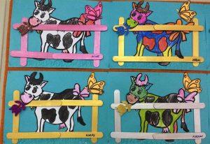 dil çubuğu-boyama ineklerimiz